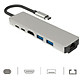 Hub USB C 6in1 ra HDMI, Ethernet RJ45 1000Mbps - hỗ trợ Thunderbolt 3 cho Macbook