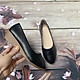 Giày nữ bít mũi đế xuồng cao 3cm kiểu trơn da lì siêu nhẹ siêu mềm C26n có ảnh thật