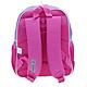 Balo trẻ em 12'' hình Barbie màu hồng viền xanh lấp lánh dành cho học sinh ,bé gái - BLBAGU12HX (28x12x32cm)