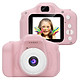 Kids Digital Video Camera Mini Rechargeable Children Camera Shockproof 8MP HD Toddler Cameras Child Camcorder Pink