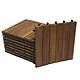 Combo 10 tấm ván sàn gỗ vỉ nhựa lót ban công sân vườn - Loại 6 nan; vỉ gỗ dễ dàng lắp đặt, có thể kết hợp với vỉ cỏ nhân tạo để trang trí ban công, lót hành lang, sân vườn, văn phòng