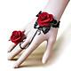 Vòng tay choker liền nhẫn hoa hồng