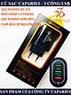 Củ Sạc 3 USB 18W Nhanh Quick Charge 3.0 - Chính Hãng CAPARIES VIỆT NAM