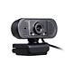 HD 1080P USB Webcam Fixed Focus Web Camera Built-in Microphone Drive-free Computer Camera for Laptop Desktop Black