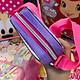 Túi đeo chéo hình công chúa Sofia kim tuyến màu hồng tím cho bé gái (Thái Lan) - 220SFNG3006112 - (15x4x11cm)