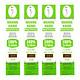 ComBo 4 hộp Nhang Xanh 30cm - 70g (Chân Tăm Đỏ) Hương Trầm Sạch 100% Vì Sức Khỏe