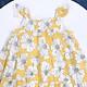 Váy Bé Gái Hai Dây Hoa Vàng DA170