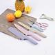 Bộ dao lúa mạch làm bếp 6 món nhiều màu sắc tiện dụng