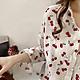 Áo sơ mi nữ vải lụa thời trang công sở in họa tiết cherry nhỏ tươi