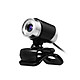 480P Webcam USB Manual Focus Drive-free Computer Camera with 3.5mm Audio Plug for PC Laptop Transparent