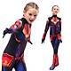 Fun Captain Marvel Cosplay Tight Jumpsuit Role Play Kids Performance Wear
