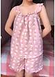 Bộ ngủ áo hai dây và quần đùi họa tiết hoạt hình dễ thương chất đẹp