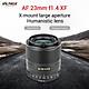 Viltrox AF 23/1.4 XF 23mm F1.4 Large Aperture Humanistic Lens Auto Focus Built-in Stepper Motor for Portrait Landscape