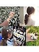 cột tóc hoa cúc - combo 2 cột tóc
