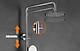 Bộ Sen Cây Tắm Đứng Nóng Lạnh INOX SUS 304 Tròn Lệch TL-1079