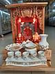 Bàn Thờ Thần Tài Ông Địa giá rẻ đẹp gỗ Xoan Cao 50 ngang 35 Bộ Combo Bàn thờ Thần Tài Ông Địa 9 món - Đồ Thờ Thắng Duyên Đại Phát