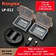 Bộ 2 pin và sạc đôi KingMa LP-E12 cho Canon M10 100D M2 - Hàng chính hãng