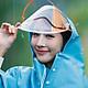 Áo mưa phản quang 1 đầu có kính cao cấp