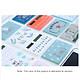 Mini Card Size Calculator Ultra-thin Cute Cartoon Solar Powered Calculator 8 Digits Display Portable(Random Color)