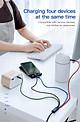 Dây sạc 4 IN 1 đa năng của Baseus  (3.5A, 120cm , Fast charge 4 in 1 Cable) cho iPhone/ iPad, Smartphone Android  - Hàng chính hãng