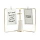 Lọ hoa khung sắt đôi treo thông điệp hình quyển sách để bàn