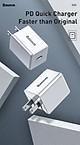 Bộ sạc nhanh Baseus 1 cổng Type-C kèm cáp Type-C to IP 18W TC-075PPS (TZCCXZ-02) - Hàng chính hãng