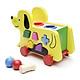Đồ chơi gỗ xe kéo chó thả hình đâp bóng - HH1059
