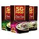 Combo 3 Gói Cháo Tươi SG Food Vị Lươn, Cá Lóc Và Sườn Non (270g / Gói)