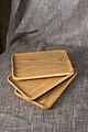 Khay gỗ đựng đồ ăn hình chữ nhật 100% bằng gỗ Ash tự nhiên ( Size S)