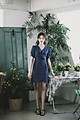Đầm công sở phối bèo ngực và chân váy KBLUE DRESS