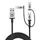 Dây Cáp Sạc 3 Trong 1 USB Type A to USB Type C/ Micro USB/ Lightning Chuẩn MFi Tri-Trip Mophie 1m 409903220 - Hàng Chính Hãng