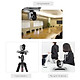 Aibecy 1080P HD Conference Camera USB Plug & Play 3X Zoom 360° Rotation with Remote Control Power Adapter for Video - Silver