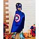 Bộ áo choàng kèm mặt nạ Captain America hoá trang halloween