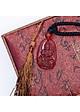 Mặt dây chuyền Phổ Hiền Bồ Tát Mã Não Đỏ tự nhiên - Phật Bản Mệnh cho người tuổi Thìn, Tỵ - PBMRAGA04 (Mặt kèm sẵn dây đeo)