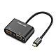 Cáp chuyển USB Type C to HDMI + VGA chính hãng Ugreen 50738 vỏ nhôm cao cấp