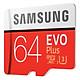 Thẻ Nhớ Micro SDXC Samsung EVO Plus 64GB 100MB/s (New 2017) Kèm Adapter Samsung - Hàng nhập khẩu