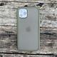 Ốp lưng chống sốc dành cho iPhone 11 Pro nút màu vàng - Màu xanh