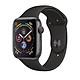 Đồng Hồ Thông Minh Apple Watch Series 4 GPS + Cellular, 44mm Aluminum Case with Black Sport Band - Hàng Nhập Khẩu