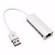 Bộ chuyển đổi USB ra LAN RJ45 (Trắng) USB 2.0 to fast Ethernet