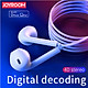 Joyroom Newest EP3 Earphone In Ear Wired Earphones with Microphone for iPhone XS Max XR XS 7 8 Plus Earphone Earbuds