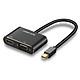 Cáp Thunderbolt - Mini Displayport to HDMI + VGA Ugreen 20422 - Hàng Chính Hãng