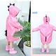 9i9 long love long dinosaur raincoat children kindergarten students poncho funny raincoat 1800311 pink L