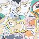 30 Miếng Sticker trang trí chó Shiba Inu & Husky