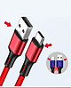 Cáp Sạc Đa Năng 3 Đầu : Lightning - Type C - Micro USB. Sạc Tốc Độ Cao (Có Thể Truyền Dữ Liệu)