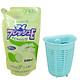 Combo Nước rửa chén hương chanh loại túi 500ml Rocket và Giá để giẻ rửa bát hình rổ dáng sâu màu xanh nội địa Nhật Bản