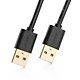 Dây USB 2.0 mạ vàng 2 đầu đực dài 0.5M UGREEN US102 10308 - Hàng Chính Hãng
