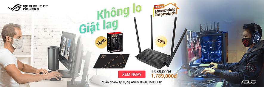 Mua Router Asus tặng Chuột và Bàn di chuột Tiki Trading