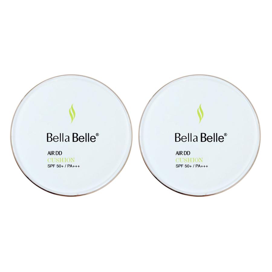 Combo 2 Phấn Nước Dưỡng Da Chống Nắng Trang Điểm Bella Belle Air DD Cusion (15g / Hộp)