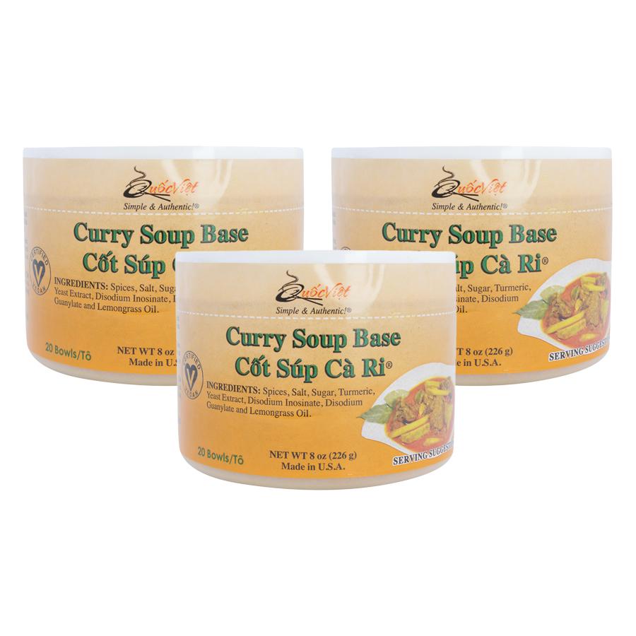 Bộ 3 Hộp Cốt Súp Cà Ri Quốc Việt Foods (283g/Hộp)
