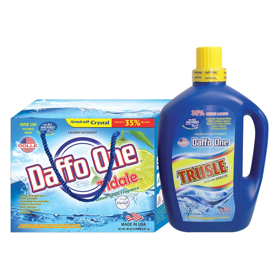 Bộ Bột Giặt Daffo One Tidale Hương Cỏ Chanh (2.27Kg / Hộp) + Nước Giặt Daffo One Trusle Hương Gió Biển (3.3L / Chai) - 1992767 , 3825830864595 , 62_944344 , 567000 , Bo-Bot-Giat-Daffo-One-Tidale-Huong-Co-Chanh-2.27Kg--Hop-Nuoc-Giat-Daffo-One-Trusle-Huong-Gio-Bien-3.3L--Chai-62_944344 , tiki.vn , Bộ Bột Giặt Daffo One Tidale Hương Cỏ Chanh (2.27Kg / Hộp) + Nước Giặt D